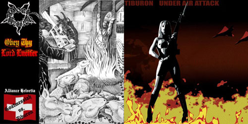 Tiburon / Goat Messiah - Obey Thy Lord Lucifer / Under Air Attack