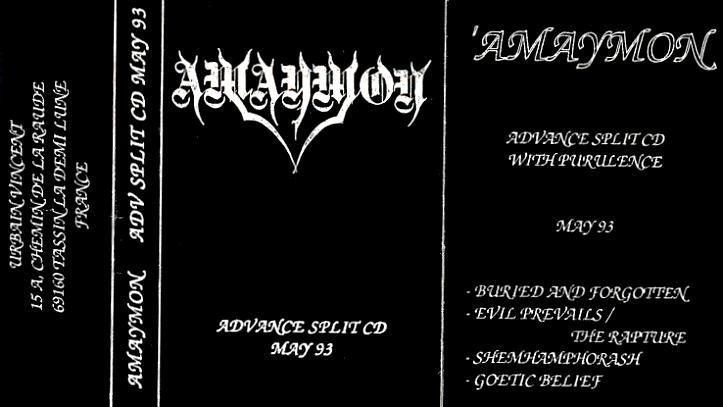 Amaymon - Advance Split CD May 93