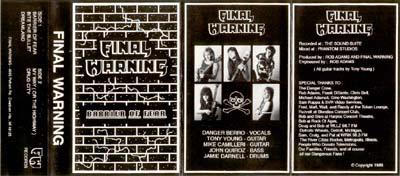 Final Warning - Barrie...