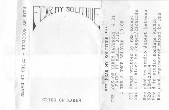 Fear My Solitude - Cries of Karen
