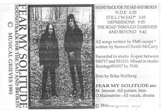 Fear My Solitude - Soundtrack for the Sad and Broken