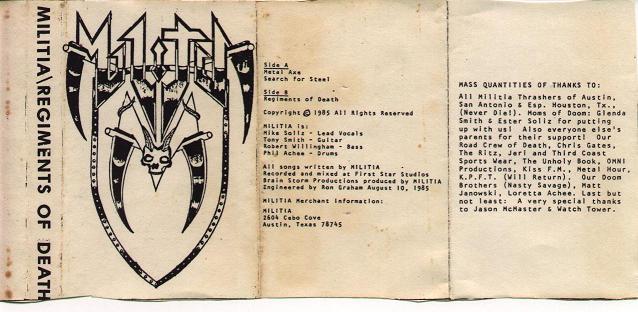 Militia - Regiments of Death