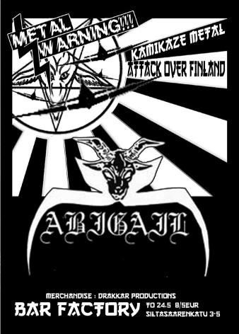 Abigail - Kamikaze Metal Attack over Finland