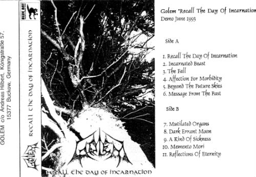 Golem - Recall the Day of Incarnation