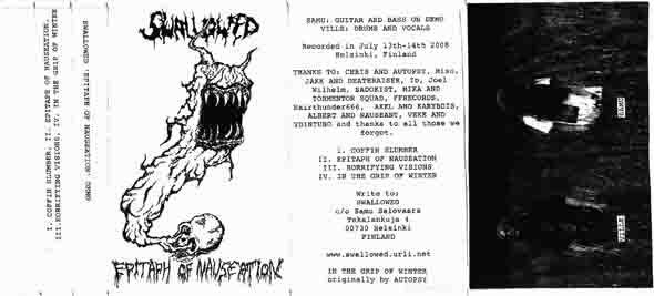 Swallowed - Epitaph of Nauseation