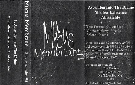 Mucus Membrane - 3 Song Sampler 96