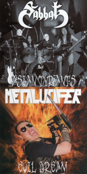 Metalucifer / Sabbat - Asian Tyrants / Evil Dream