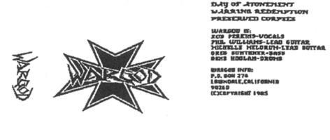 Wargod - Demo '85