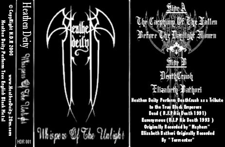 Heathen Deity - Whispers of the Unlight