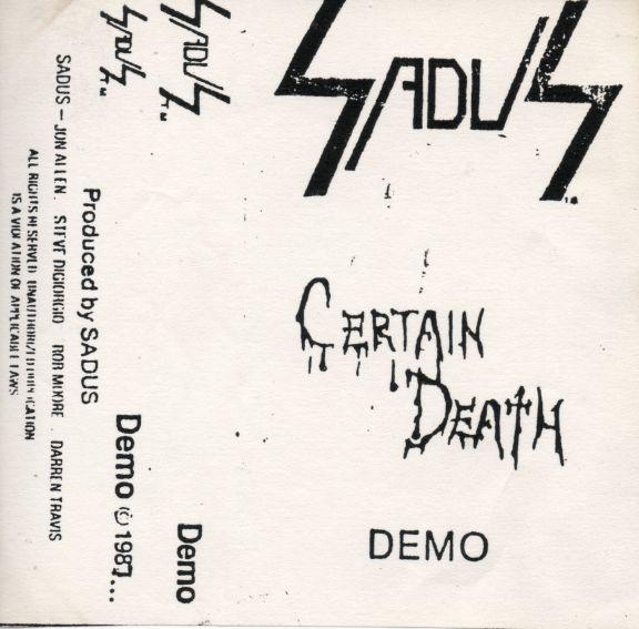 Sadus - Certain Death