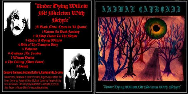 Animae Capronii - Under Dying Willow Sit Skeleton with Schyte
