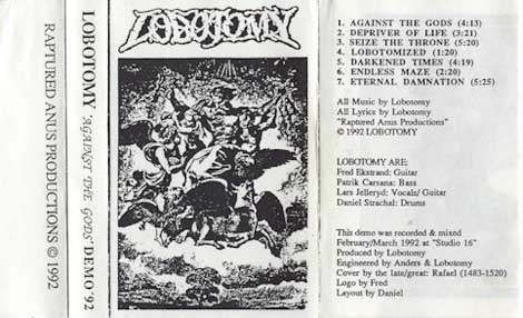 Lobotomy - Against the Gods