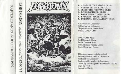 Lobotomy - Against the Gods