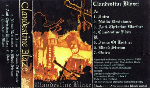 Clandestine Blaze - Promo '98