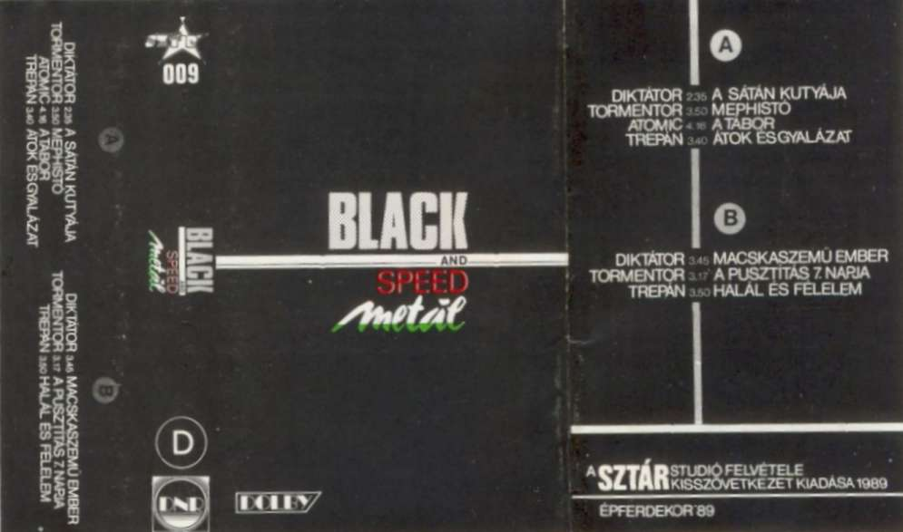 Tormentor / Atomic / Trepán / Diktátor - Black and Speed Metál