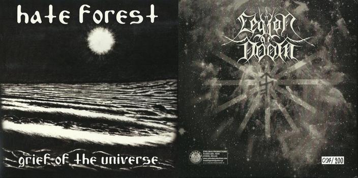 Hate Forest / Legion of Doom - Grief of the Universe / Spinning Galaxies