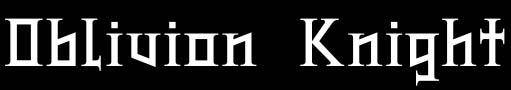 Oblivion Knight - Logo