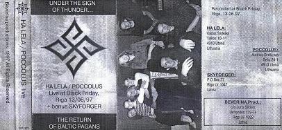 Poccolus / Ha Lela - Live at Black Friday, Riga 13/06/97