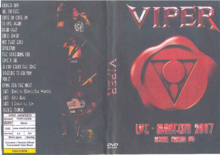 Viper - Live at Manifesto - Official Fanclub DVD