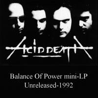 Acid Death - Balance of Power