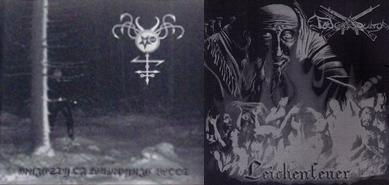 Satanic Warmaster / Totenburg - Majesty of Wampyric Blood / Leichenfeuer