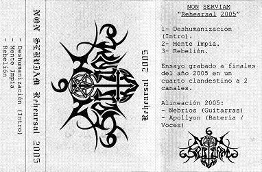 Non Serviam - Rehearsal 2005