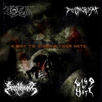 Zora / Deathcrush / Smashhead / Land of Hate - 4 Way to Scream Your Hate