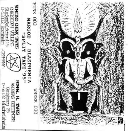 Blasphemia / Wargod - Split Tape' 95