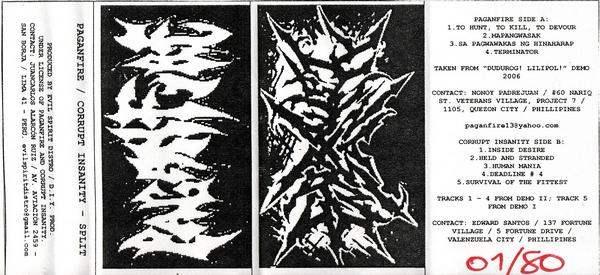 Paganfire / Corrupt Insanity - Paganfire / Corrupt Insanity