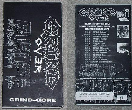 Dead Infection / Haemorrhage / Clotted Symmetric Sexual Organ - Grind over Europe