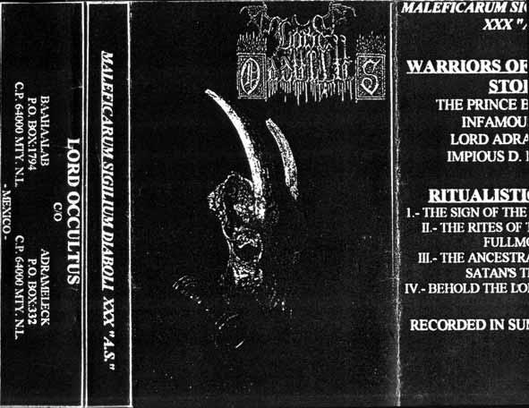 """Lord Occultus - Maleficarum Sigilium Diaboli XXX """"A.S."""""""