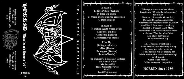Horrid - Unreleased Promo '93
