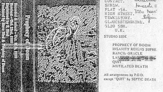 Prophecy of Doom - Demo 1988