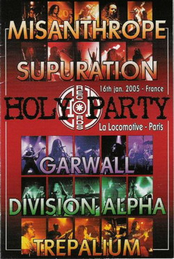 Misanthrope / Supuration / Garwall / Trepalium - The Holy Party