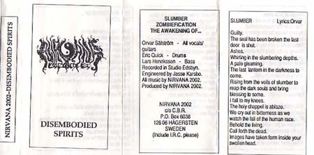 Nirvana 2002 - Disembodied Spirits