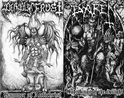 Daren / Deadly Frost - Hammer of Antichrist / Gods Kings of the Twilight