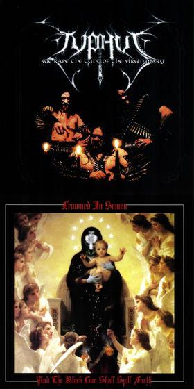 Typhus / Crowned in Semen - We Rape the Cunt of the Virgin Mary / And the Black Cum Shall Spill Forth