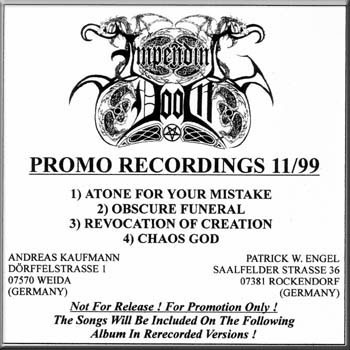 Impending Doom - Promo Recordings 11/99