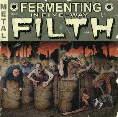 Defleshuary / Down from the Wound / Cumbeast / Heinous Killings / Decrepit Womb - Fermenting in Five-Way Filth