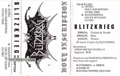 Blitzkrieg - Holy Inscription