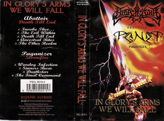 Paganizer / Abattory - In Glory's Arms, We Will Fall