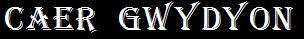 Caer Gwydyon - Logo