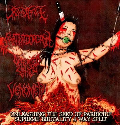 Defeated Sanity / Moonfog / Venomed / Splattered Orgasm - Unleashing the Seed of Parricide