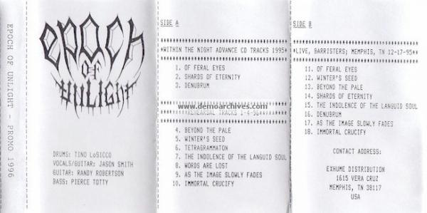 Epoch of Unlight - Promo 1996