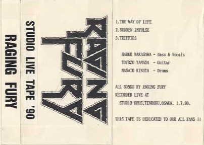 Raging Fury - Studio Live Tape '90