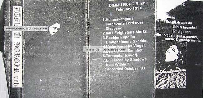 Dimmu Borgir - Rehearsal February 1994