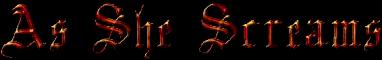As She Screams - Logo