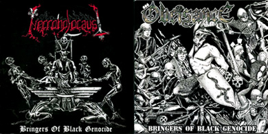 Obeisance / Necroholocaust - Bringers of Black Genocide
