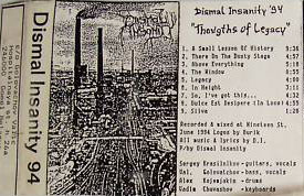 Dismal Insanity - Thoughts of Legacy