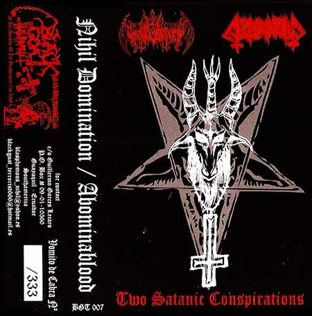 Nihil Domination / Abominablood - Two Satanic Conspirations